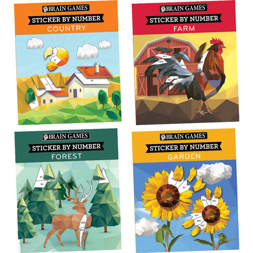 Set Of 4 Sticker By Number Books