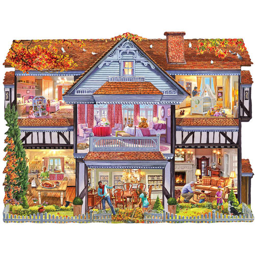 Autumn Country House 1000 Piece Jigsaw Puzzle