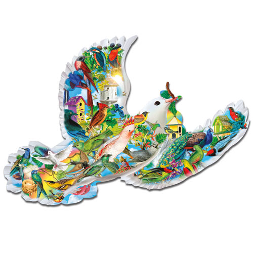 Feathered Friends Shaped Dove 1000 Piece Jigsaw Puzzle