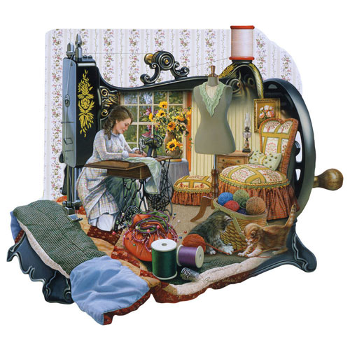 Sewing Memories 1000 Piece Shaped Jigsaw Puzzle