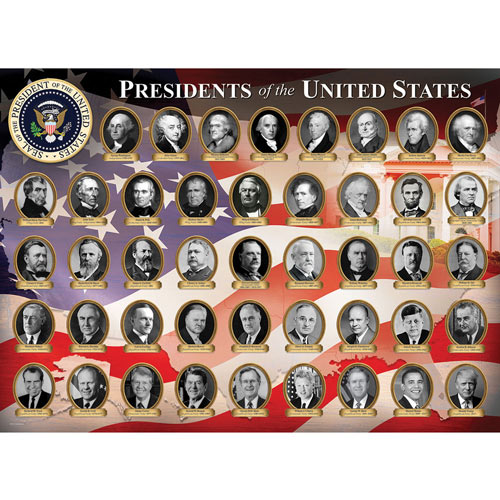 Presidents of the United States 1000 Piece Jigsaw Puzzle