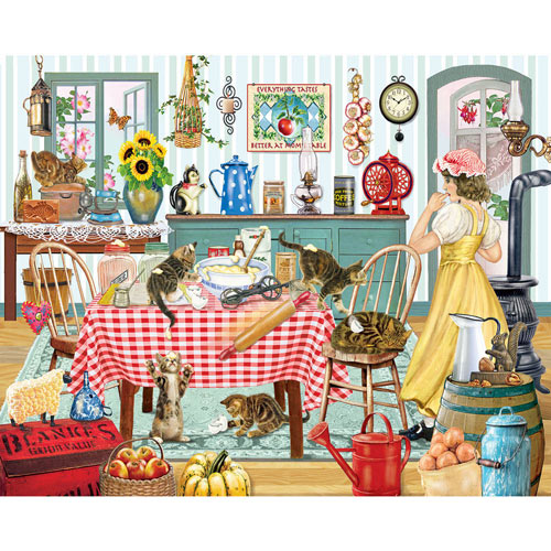 Kittens in the Kitchen 1000 Piece Jigsaw Puzzle