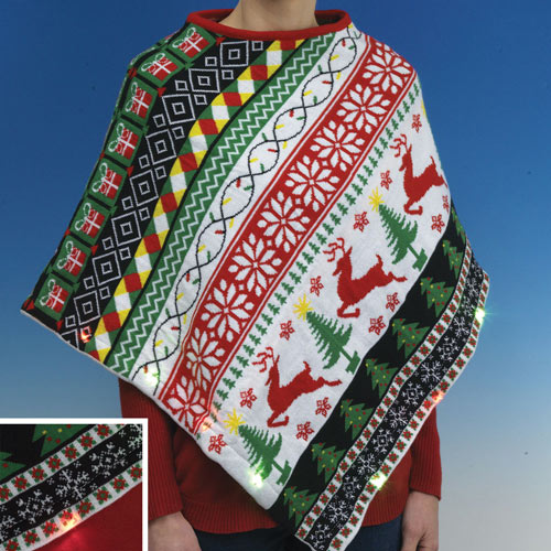 Light-Up Holiday Poncho