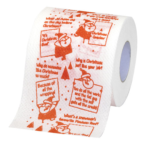 Christmas Jokes Toilet Paper
