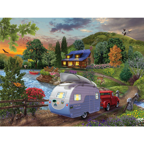 Campers Coming Home 500 Piece Jigsaw Puzzle