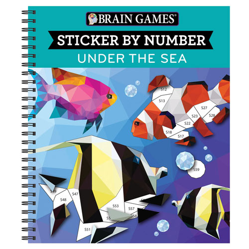 Sticker by Number Book - Under the Sea