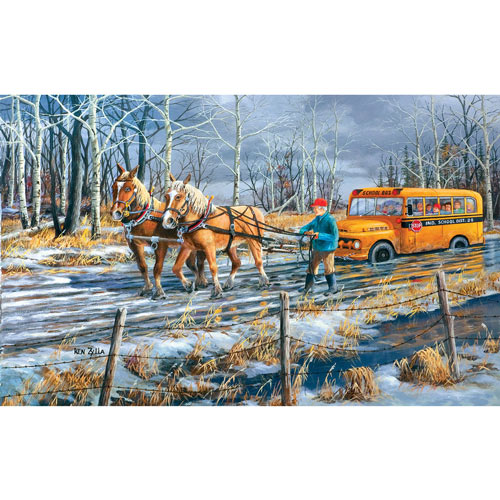 Spring Break Up 300 Large Piece Jigsaw Puzzle
