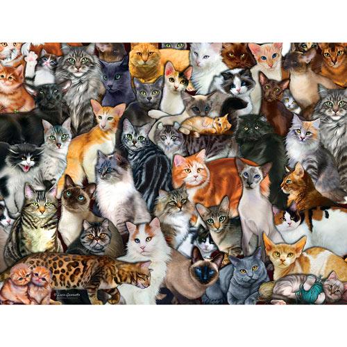 Cat Collage 300 Large Piece Pet Jigsaw Puzzle