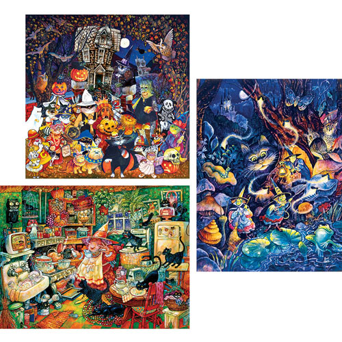 Set of 3: Bill Bell 300 Large Piece Jigsaw Puzzles