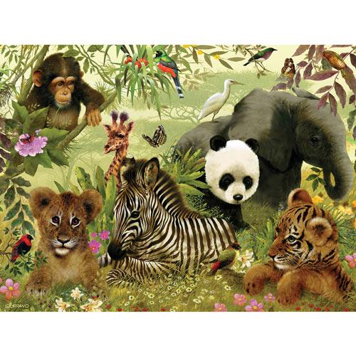 Jungle 100 Large Piece Jigsaw Puzzle