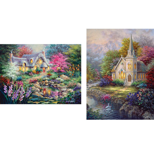 Set of 2: Nicky Boehme 1000 Piece Jigsaw Puzzles