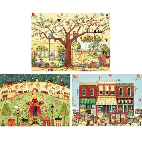 Set of 3: Ellen Stouffer 1000 Piece Jigsaw Puzzles