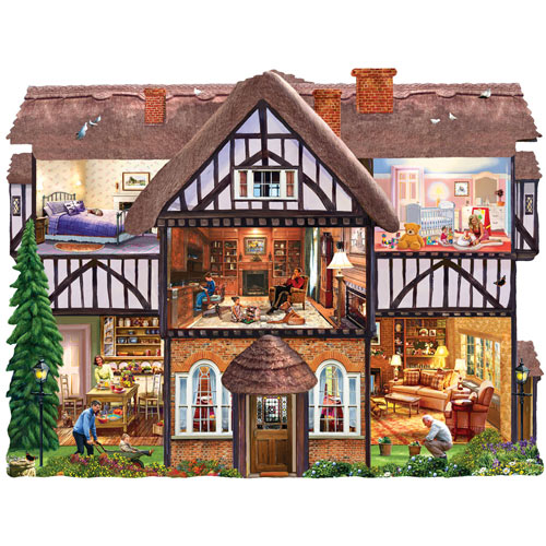 Summer House 1000 Piece Shaped Jigsaw Puzzle