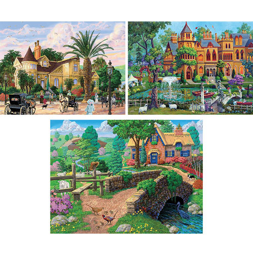 Set of 3 : Joseph Burgess 1000 Piece Jigsaw Puzzles