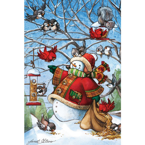 Frosty Feeding Friends 1000 Piece Jigsaw Puzzle