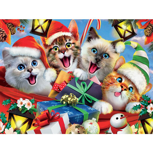 Cats in Hats Selfie 550 Piece Jigsaw Puzzle