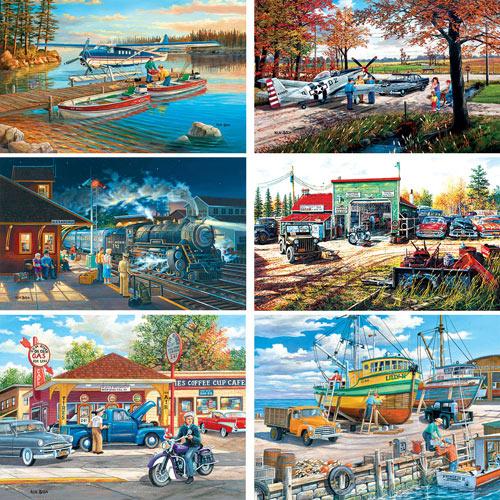 Set of 6: Ken Zylla 500-550 Piece Jigsaw Puzzles