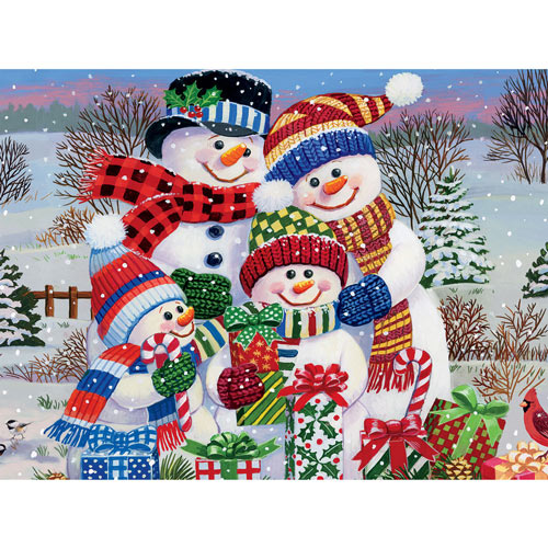 Snow Family 550 Piece Jigsaw Puzzle