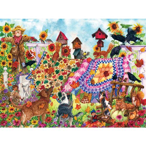 Autumn Garden Quilt 1000 Piece Jigsaw Puzzle