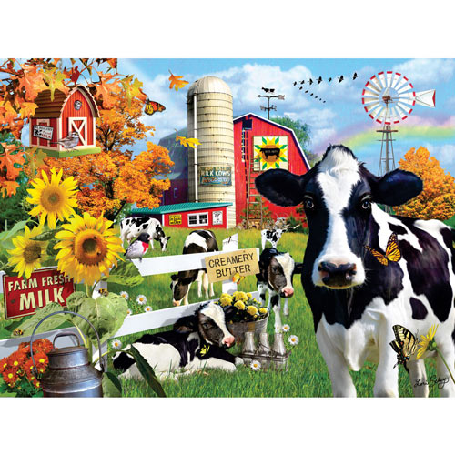 Dairy Farm 300 Large Piece Jigsaw Puzzle