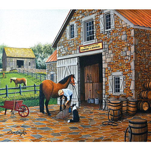 Coppery and Stables 300 Large Piece Jigsaw Puzzle