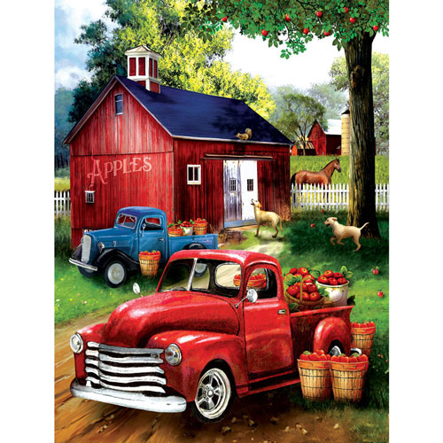 Apples for Sale 300 Large Piece Jigsaw Puzzle