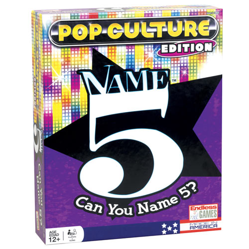 Name 5 Pop Culture Edition