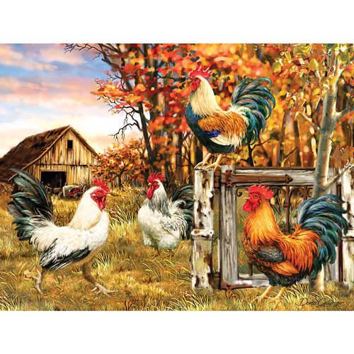 Rooster Farm 300 Large Piece Jigsaw Puzzle