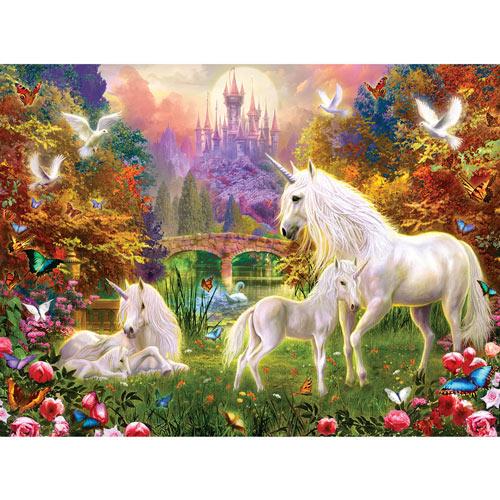 Castle Unicorns 300 Large Piece Jigsaw Puzzle