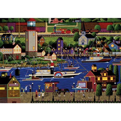 Holiday Boat Parade 1000 Piece Jigsaw Puzzle