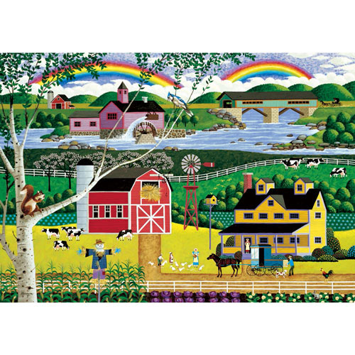 Double Rainbow 1000 Piece Jigsaw Puzzle
