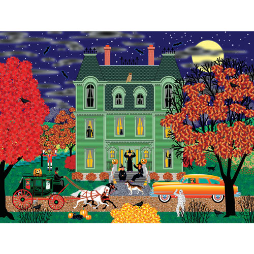 Green House on Halloween 500 Piece Jigsaw Puzzle