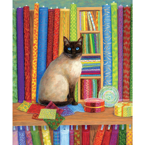 Quilt Shop Cat 1000 Piece Jigsaw Puzzle