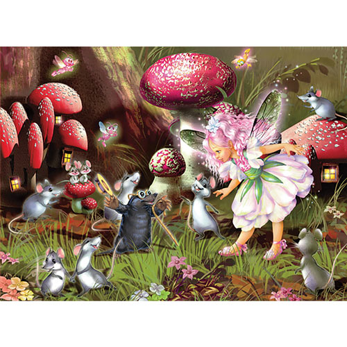 Fairy, Mice and Mole 100 Piece Jigsaw Puzzle