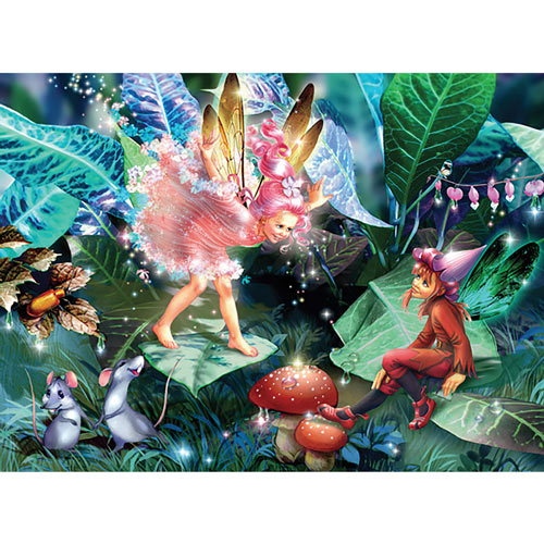 Fairy, Elf and Mice 100 Piece Jigsaw Puzzle