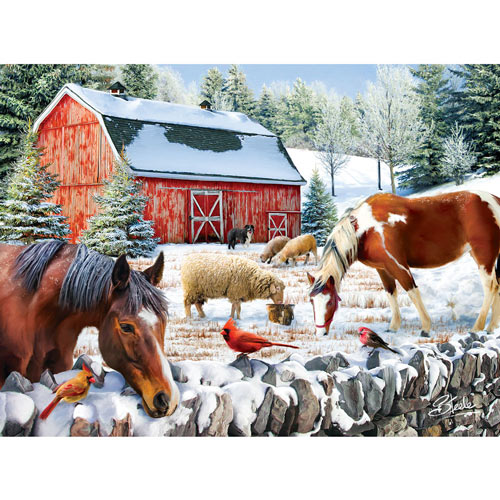 Wintering at the Farm 300 Large Piece Jigsaw Puzzle