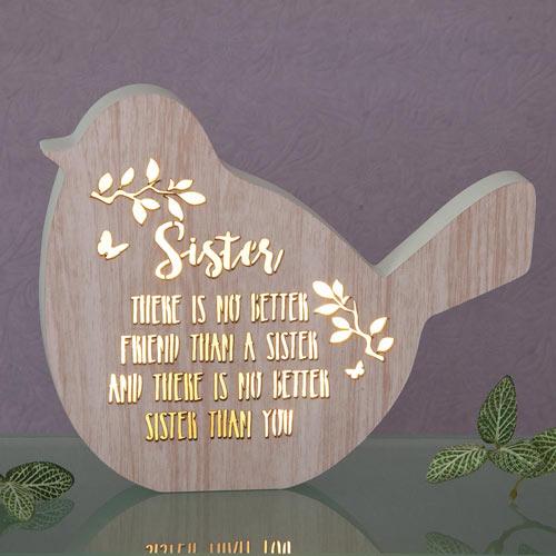 Sister Sentiment LED Bird