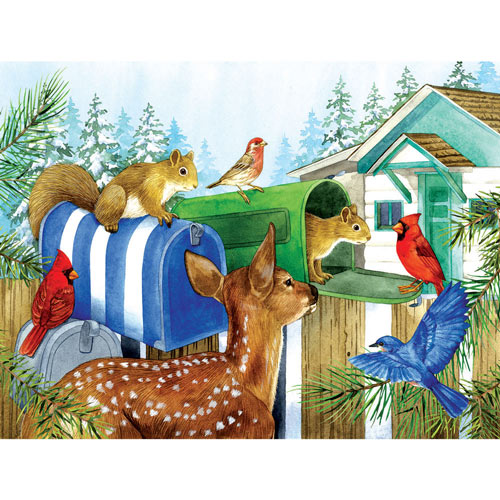 Rural Mailboxes 300 Large Piece Jigsaw Puzzle