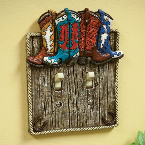Cowboy Boot Light Switch - Double