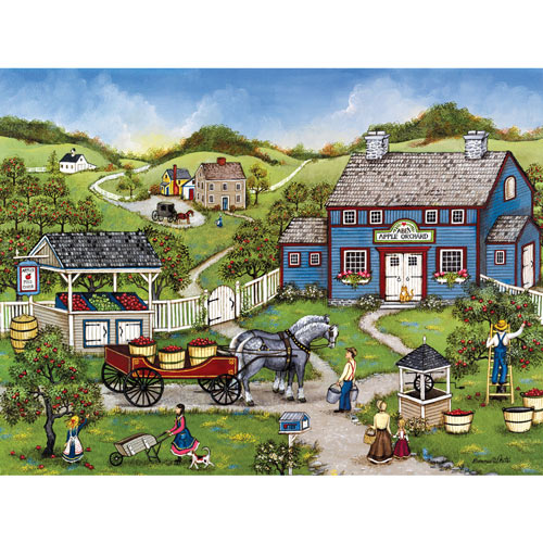 Apple Picking at Abe's 300 Large Piece Jigsaw Puzzle