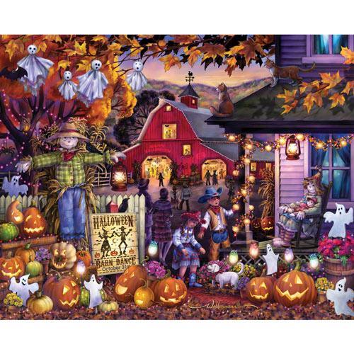 Halloween Barn Dance 1000 Piece Jigsaw Puzzle