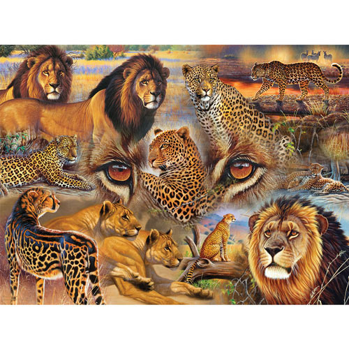 Big Cats of the Plains 500 Piece Jigsaw Puzzle