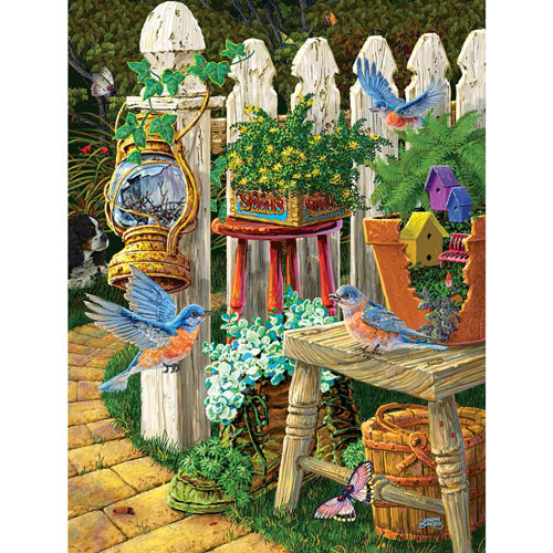 Summer Bluebirds 300 Large Piece Jigsaw Puzzle