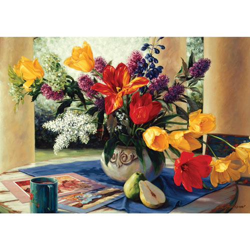 Spring Bouquet 300 Large Piece Jigsaw Puzzle