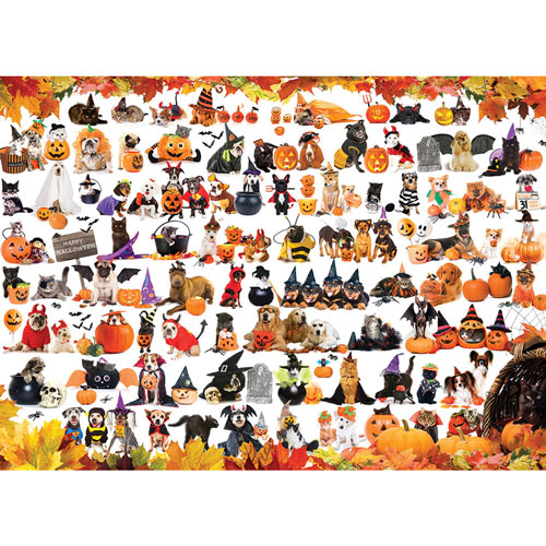 Halloween Cats and Dogs 1000 Piece Jigsaw Puzzle