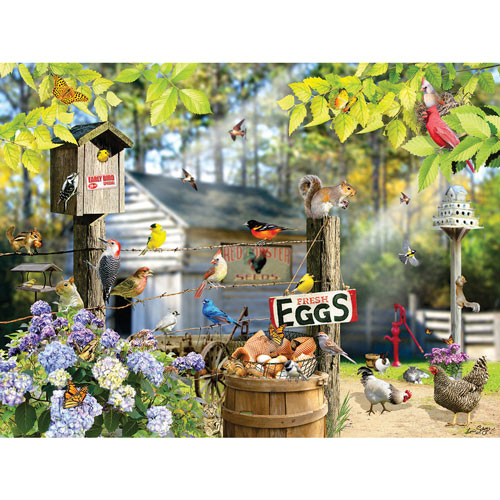Birds on a Wire 300 Large Piece Jigsaw Puzzle