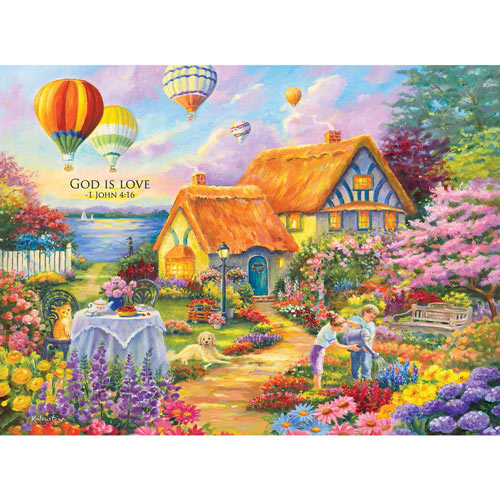 Spring in Grandma's Garden 300 Large Piece Jigsaw Puzzle