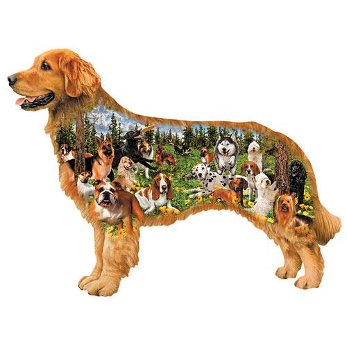 Dog Park 350 Piece Shaped Jigsaw Puzzle