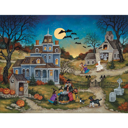Three Little Witches 500 Piece Jigsaw Puzzle