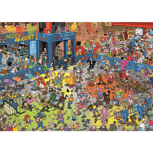 The Roller Disco 1000 Piece Jigsaw Puzzle